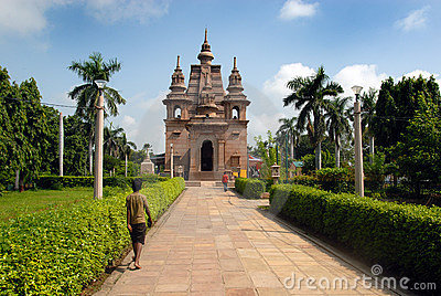Sarnath Buddhist Temples Editorial Stock Photo