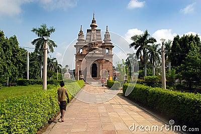Sarnath Buddhist Temples Editorial Stock Photo