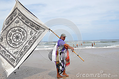 Male Sarong Seller Editorial Stock Image