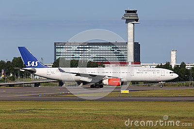 SAS Scandinavian Airlines Airbus A330-300 Editorial Stock Photo