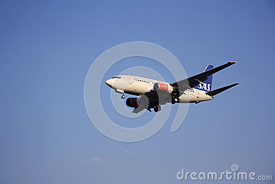 SAS Scandinavian Airlines aircraft Editorial Photo