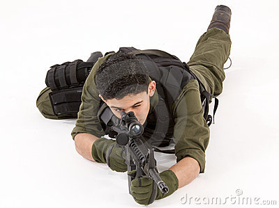 SAS Soldier in Prone pose