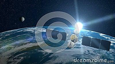 Satélite sobre a terra