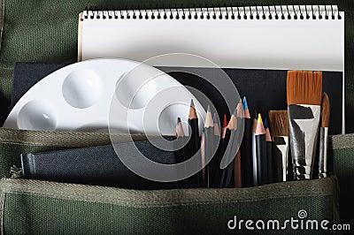 Satchel of Art Materials