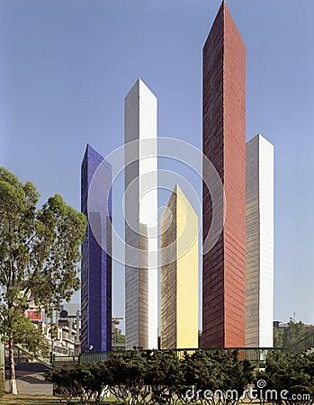 Free Satelite Towers, Mexico City Royalty Free Stock Image - 24270776