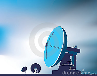 Satellite communication dishes