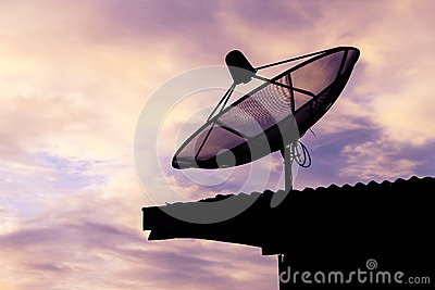 Satellite communication disk