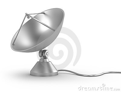 Satellite Dish with cable