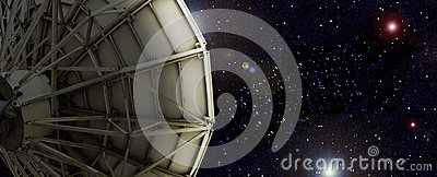 Satellite dish outside the universe.