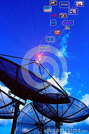 Satellite dish power