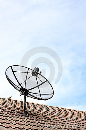 A satellite dish on the roof.