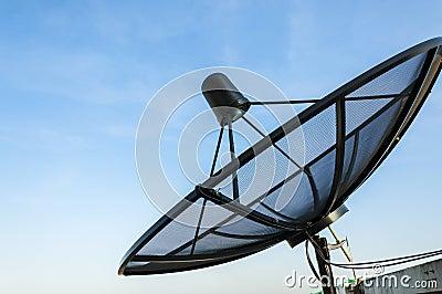 Satellite Dish Under Blue Sky
