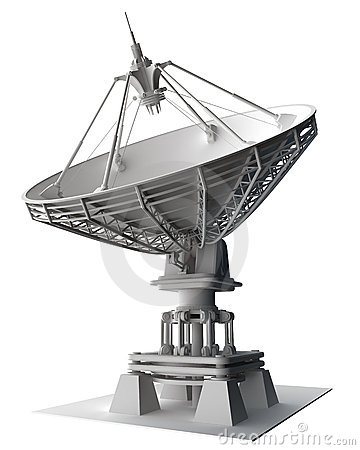Free Satellite Dishes Antenna - Doppler Radar Royalty Free Stock Photography - 17212737