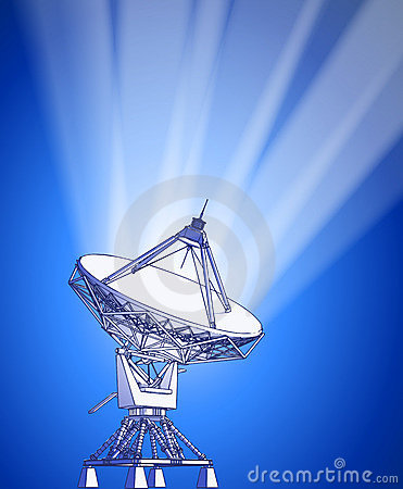 Satellite dishes antenna - doppler radar