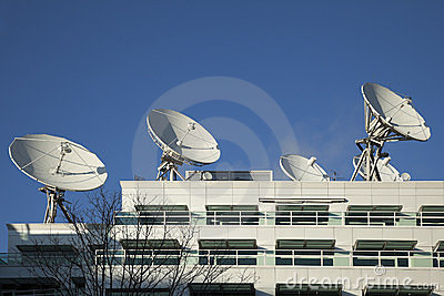 Satellite Dishes used for Broadcasting