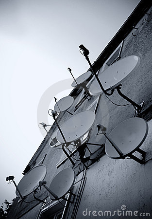 Satellite dishes wall