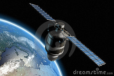 Satellite and earth 10