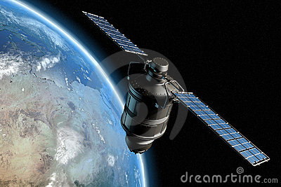 Satellite and earth 9