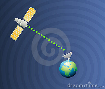 Satellite earth communication