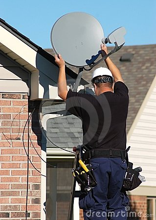 Free Satellite Technician Stock Images - 6827554