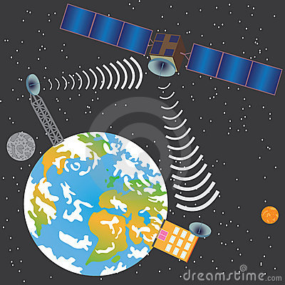Satellite transmitting signal