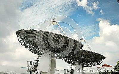 Satellites broadcast