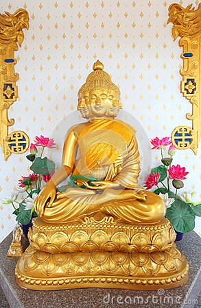 Satiennawakot buddha (9 faces buddha) in Thailand