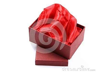 Satin cloth gift box