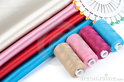 Satin fabric and tailor s accessories
