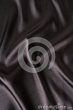 Satin noir lisse