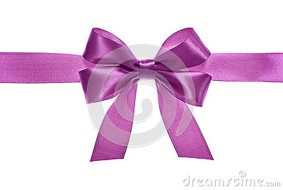 Satin pink ribbon bow