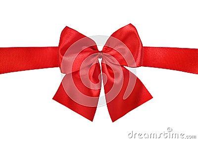 Satin red ribbon bow
