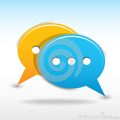 Satin web 2.0 button speech bubbles icon.