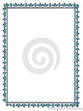 Satined frame