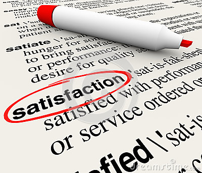 Definition for customer satisfaction