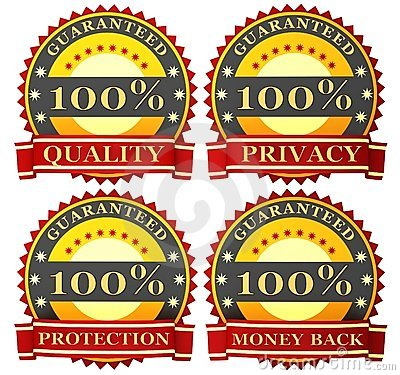 Satisfaction guarantee labels