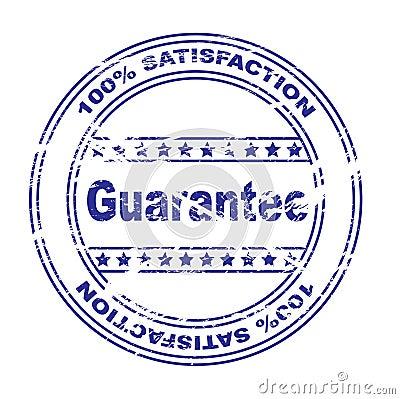 satisfaction guarantee stamp (vector)