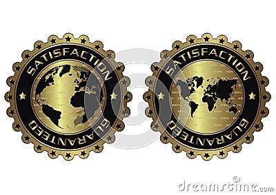 Satisfaction guaranteed luxury golden labels