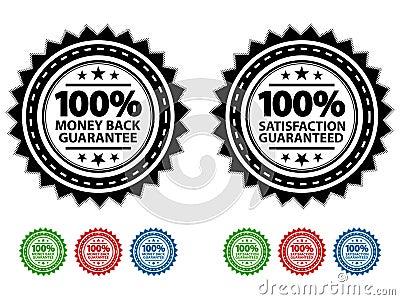 Satisfaction Guaranteed Seals EPS Vector Illustration