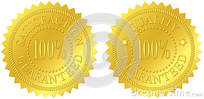 Satisfaction and Quality Guaranteed Gold Seals