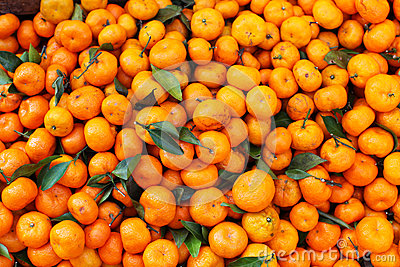 Satsuma mandarin in bulk on the market