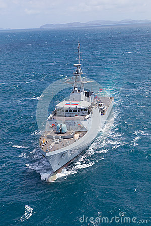 Free SATTAHEEP, THAILAND - June 21: H.T.M.S. Krabi, An Offshore Patrol Vessel Of The Royal Thai Navy Test Control System And Speed Stock Image - 33601201