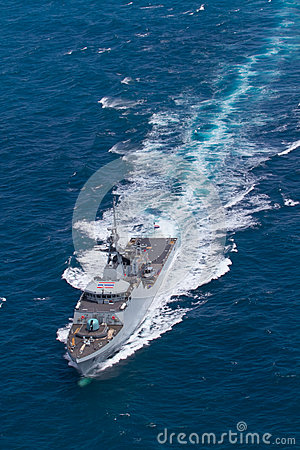 Free SATTAHEEP, THAILAND - June 21: H.T.M.S. Krabi, An Offshore Patrol Vessel Of The Royal Thai Navy Test Control System And Speed Stock Image - 33603901