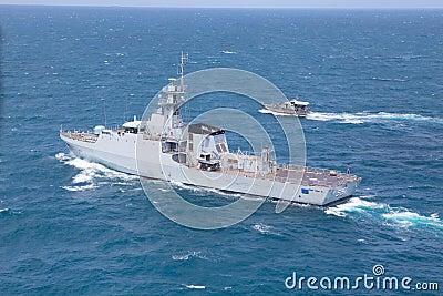 SATTAHEEP, THAILAND - June 21: H.T.M.S. Krabi, an offshore patro Editorial Stock Image