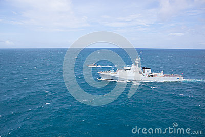 SATTAHEEP, THAILAND - June 21: H.T.M.S. Krabi, an offshore patro Editorial Stock Photo