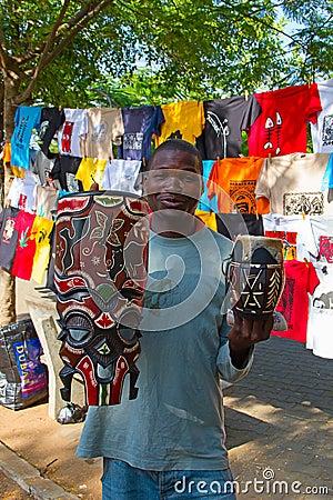 Saturday market in Maputo Editorial Image