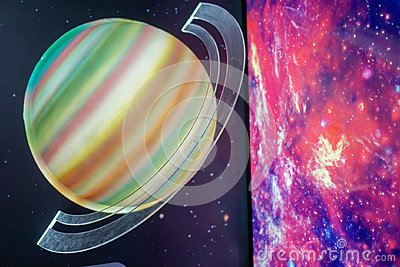 The Saturn models, scientific concepts to the stars Stock Photo