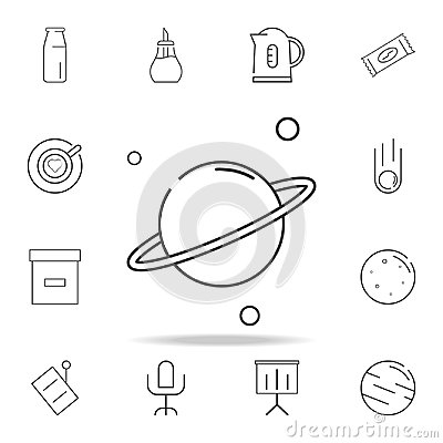 Saturn planet line icon. Detailed set of web icons and signs. Premium graphic design. One of the collection icons for websites, we Stock Photo