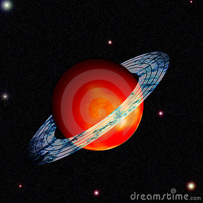 Saturn with ring around