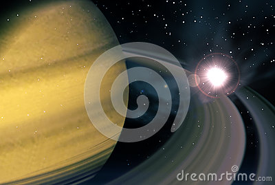 Saturn and supernova
